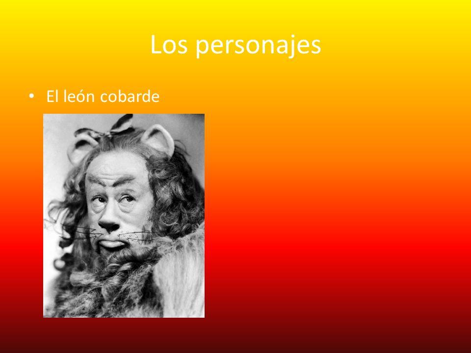 Los personajes El león cobarde
