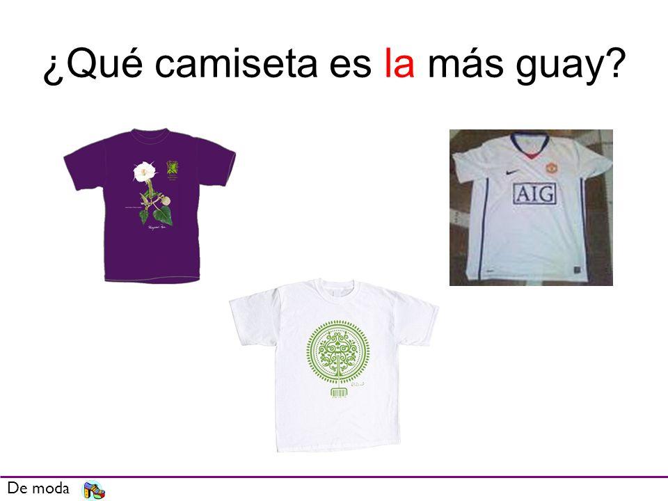 ¿Qué camiseta es la más guay? De moda