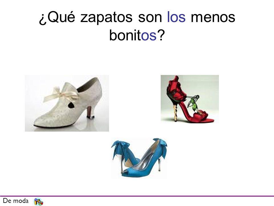 ¿Qué zapatos son los menos bonitos? De moda