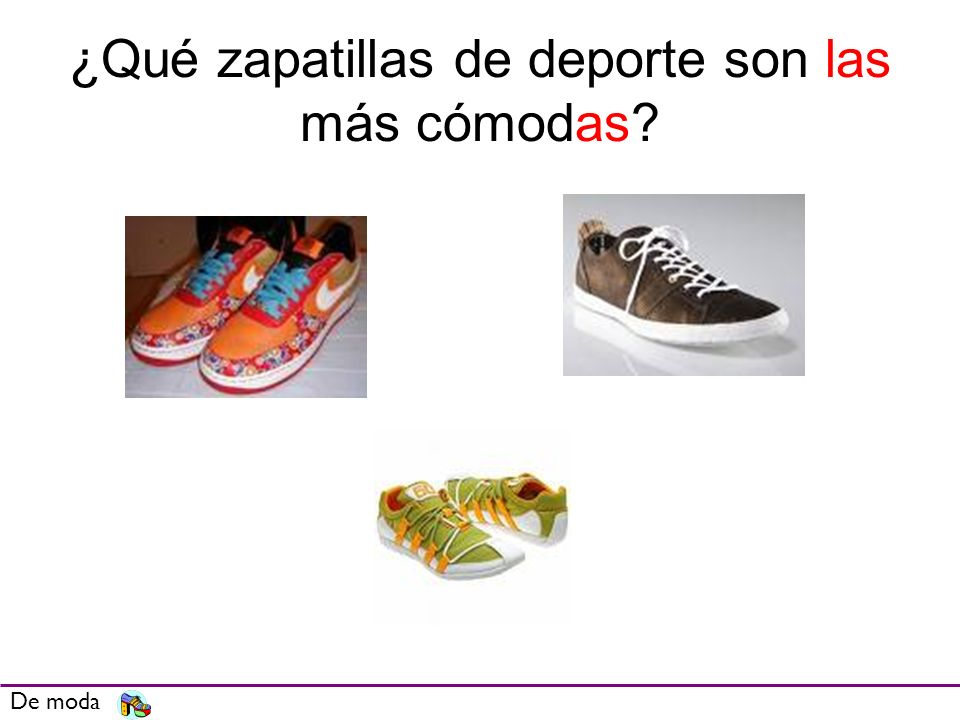 ¿Qué zapatillas de deporte son las más cómodas? De moda