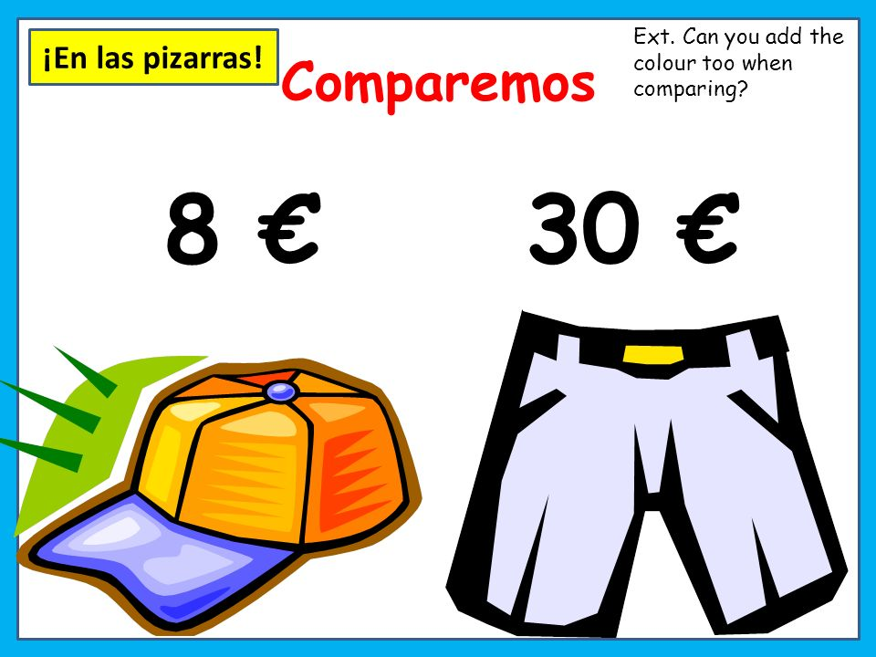 130 15 Comparemos Ext. Can you add the colour too when comparing?