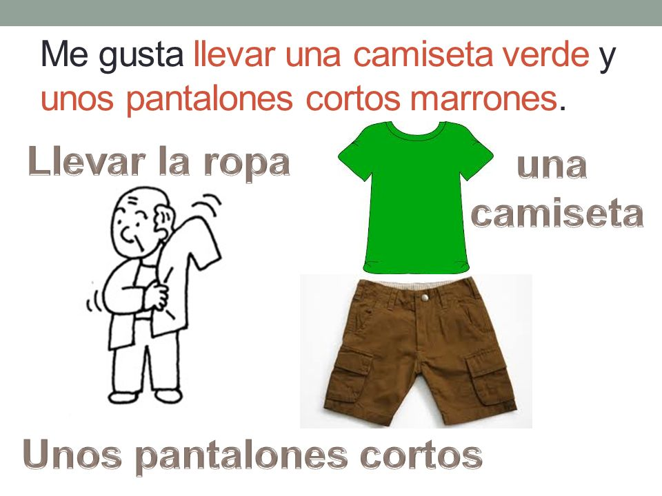 A Maribel le gusta llevar una blusa amarilla, unos pantalones negros, y unos zapatos marrones.