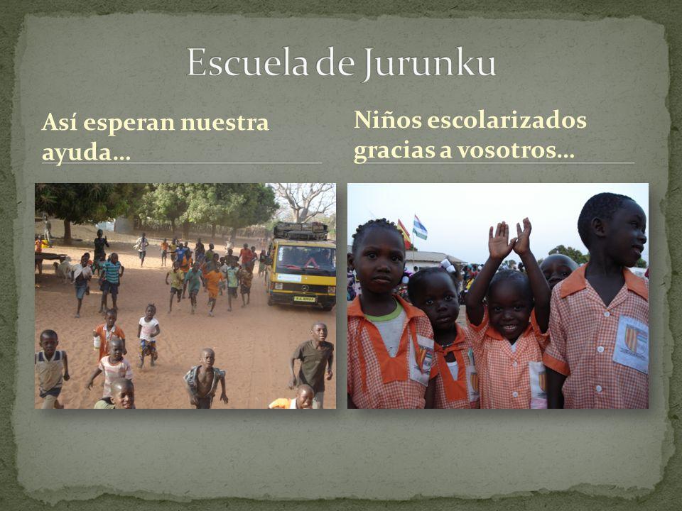 Así esperan nuestra ayuda… Niños escolarizados gracias a vosotros…