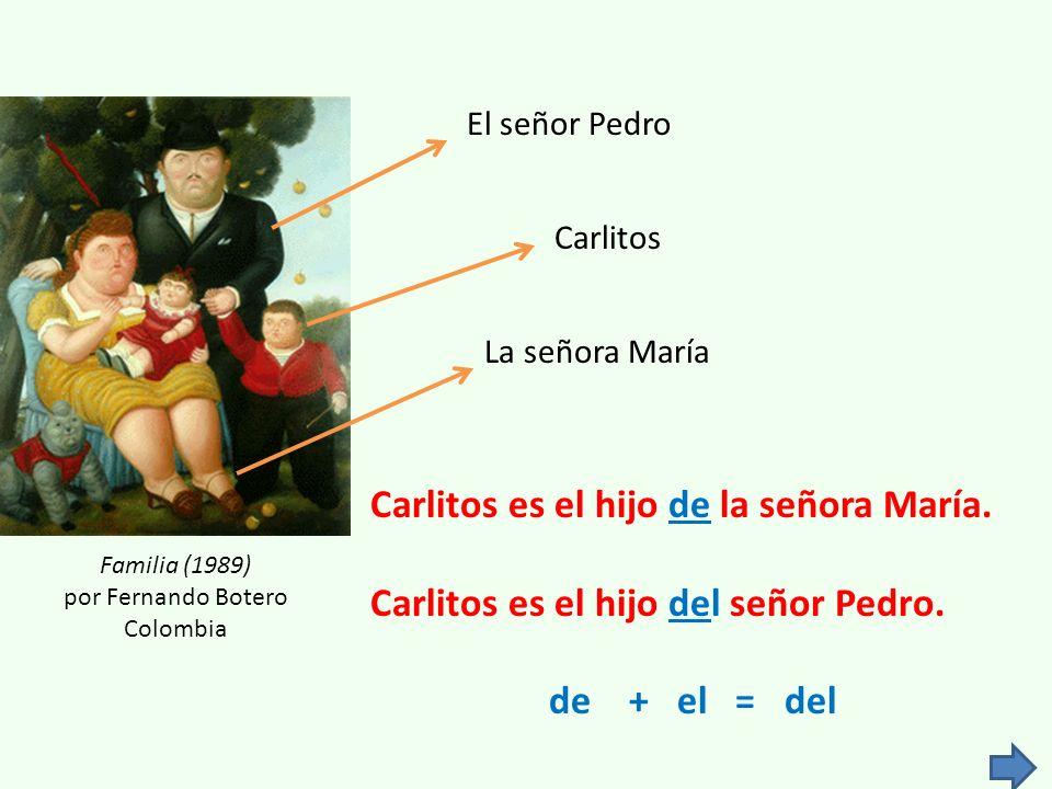 La señora María Familia (1989) por Fernando Botero Colombia Carlitos es el hijo de la señora María.