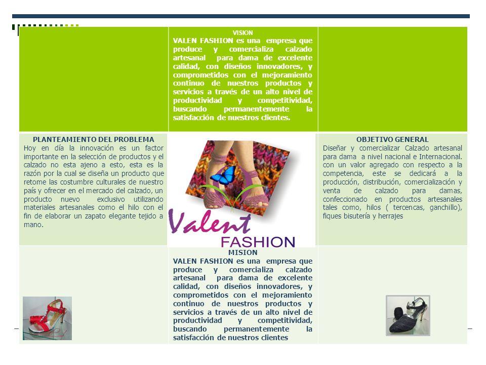 VISION VALEN FASHION es una empresa que produce y comercializa calzado artesanal para dama de excelente calidad, con diseños innovadores, y comprometi