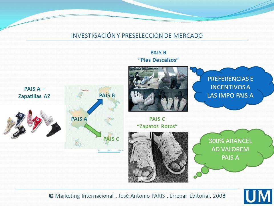 INVESTIGACIÓN DE MERCADOS INVESTIGACIÓN Y PRESELECCIÓN DE MERCADO GUÍA PARA REALIZAR UNA INVESTIGACIÓN DE MARKETING INTERNACIONAL GENERAL Ítems que tendrán valor en la investigación a realizar © © Marketing Internacional.