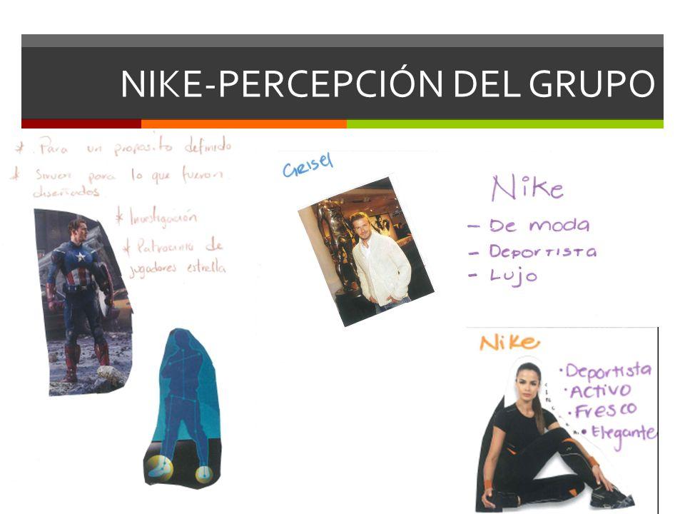 NIKE-PERCEPCIÓN DEL GRUPO