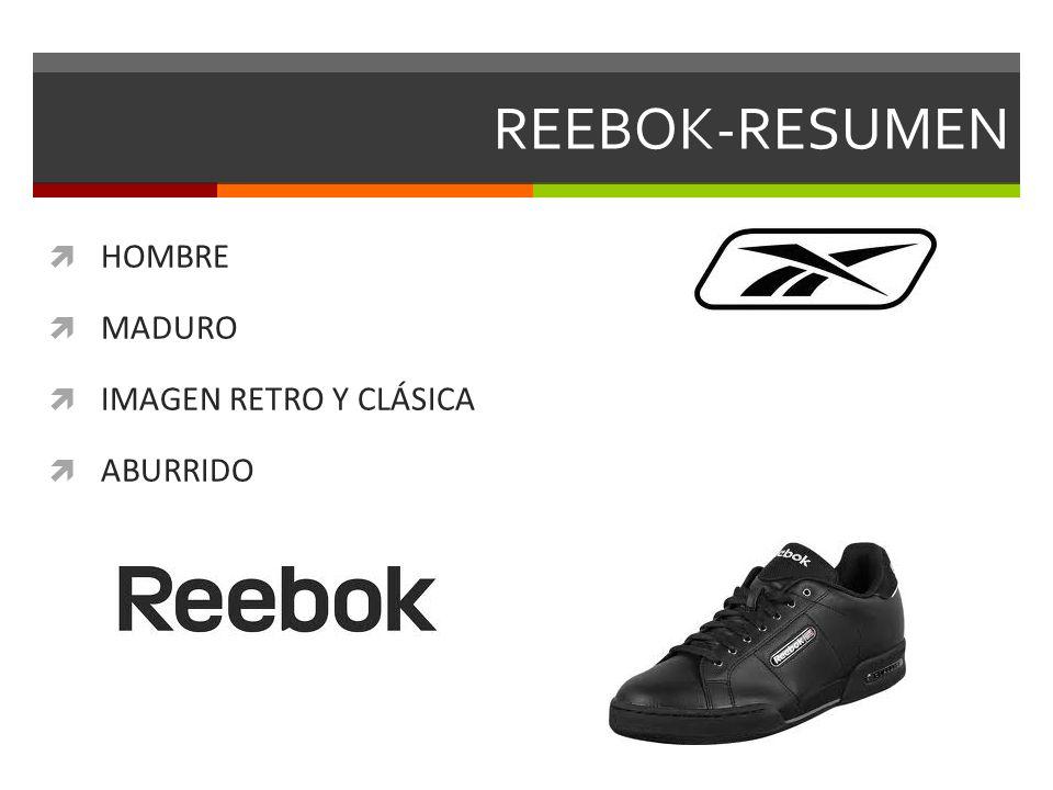 REEBOK-RESUMEN HOMBRE MADURO IMAGEN RETRO Y CLÁSICA ABURRIDO
