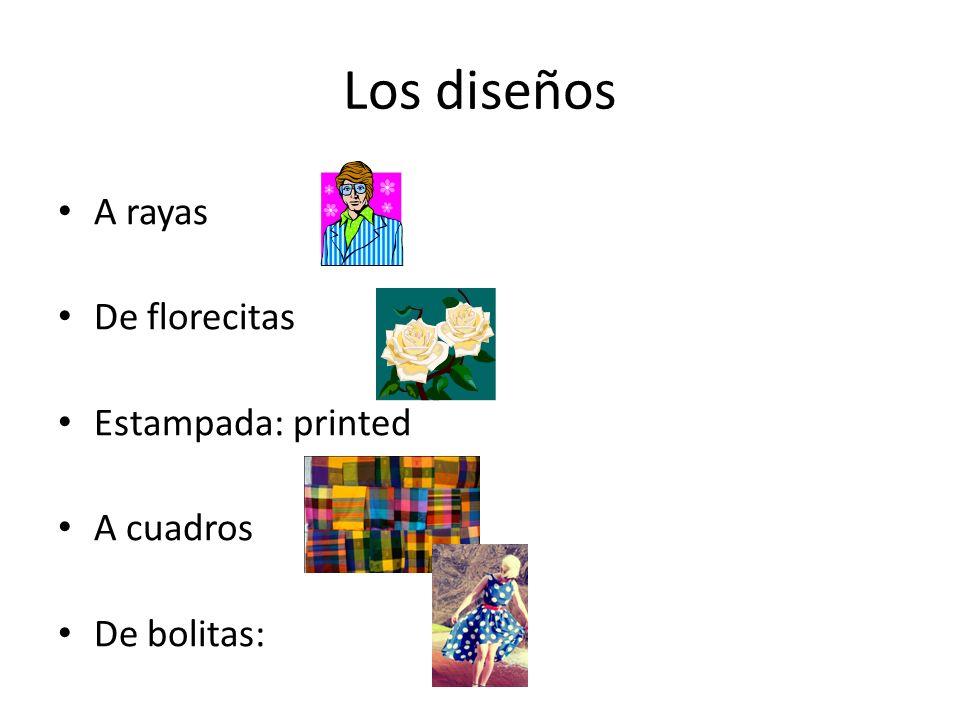 Los diseños A rayas De florecitas Estampada: printed A cuadros De bolitas:
