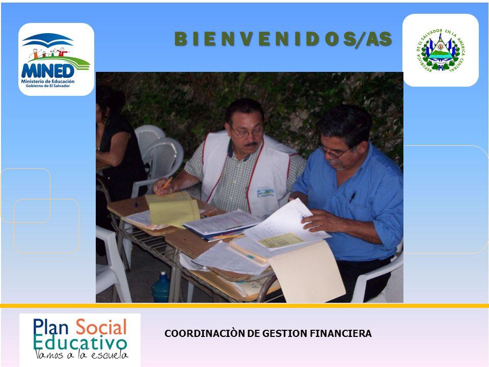 COORDINACIÒN DE GESTION FINANCIERA B I E N V E N I D O S/AS