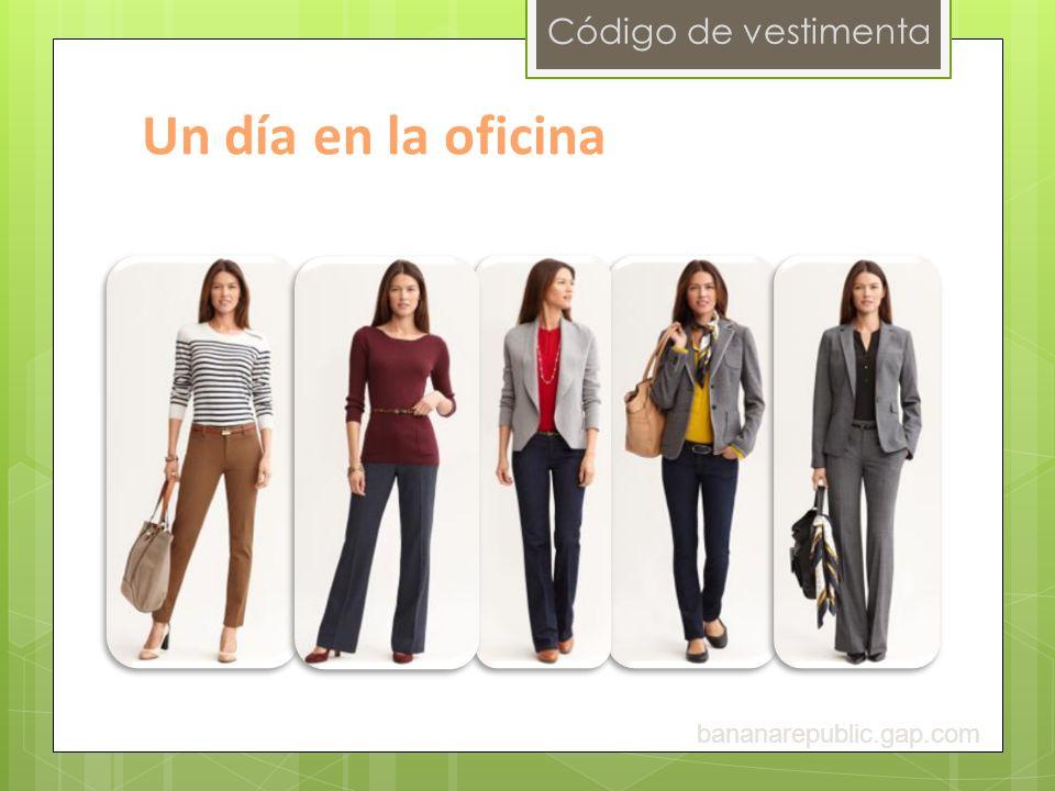 Código de vestimenta Un día en la oficina bananarepublic.gap.com