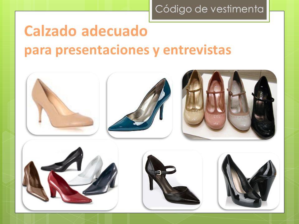 Código de vestimenta Calzado adecuado para presentaciones y entrevistas