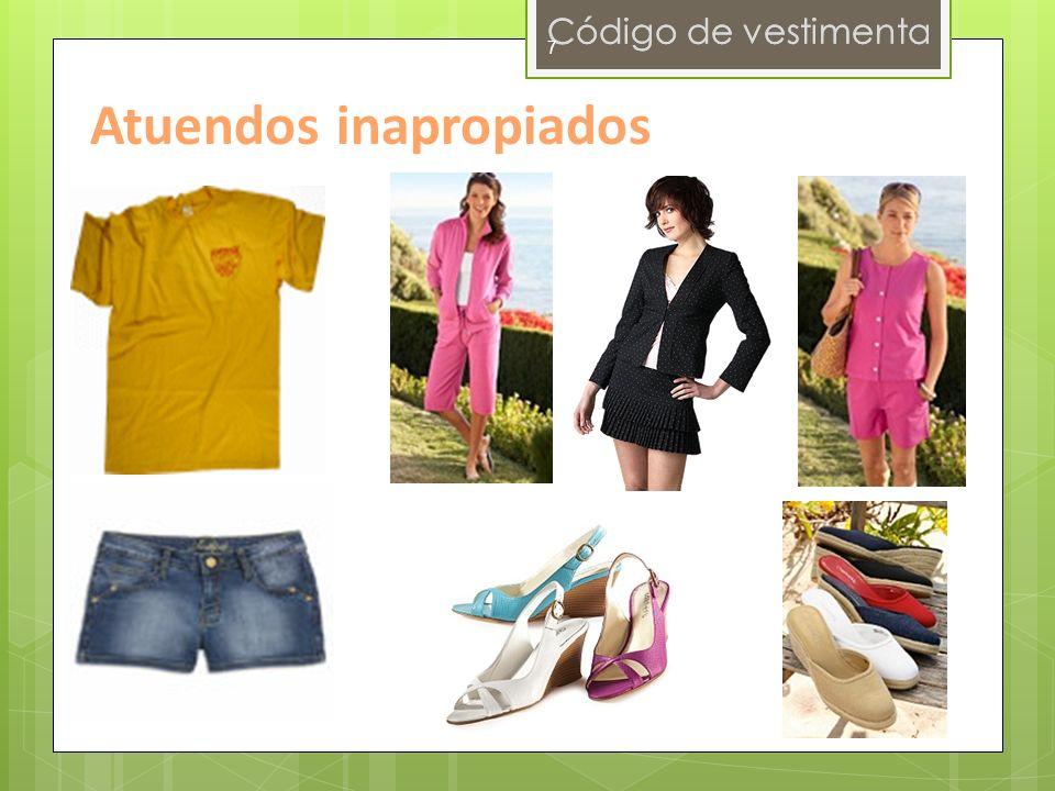 Código de vestimenta 7 Atuendos inapropiados