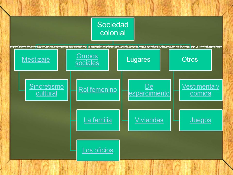 Mestizaje La época colonial se caracterizo por la gran mezcla de castas.