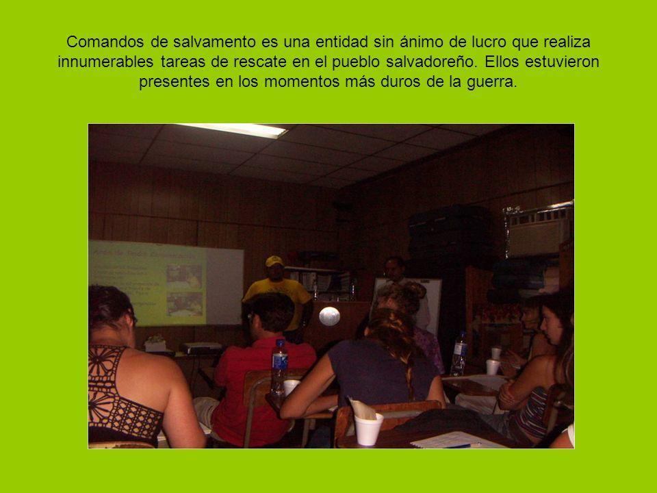 Comandos de salvamento es una entidad sin ánimo de lucro que realiza innumerables tareas de rescate en el pueblo salvadoreño.
