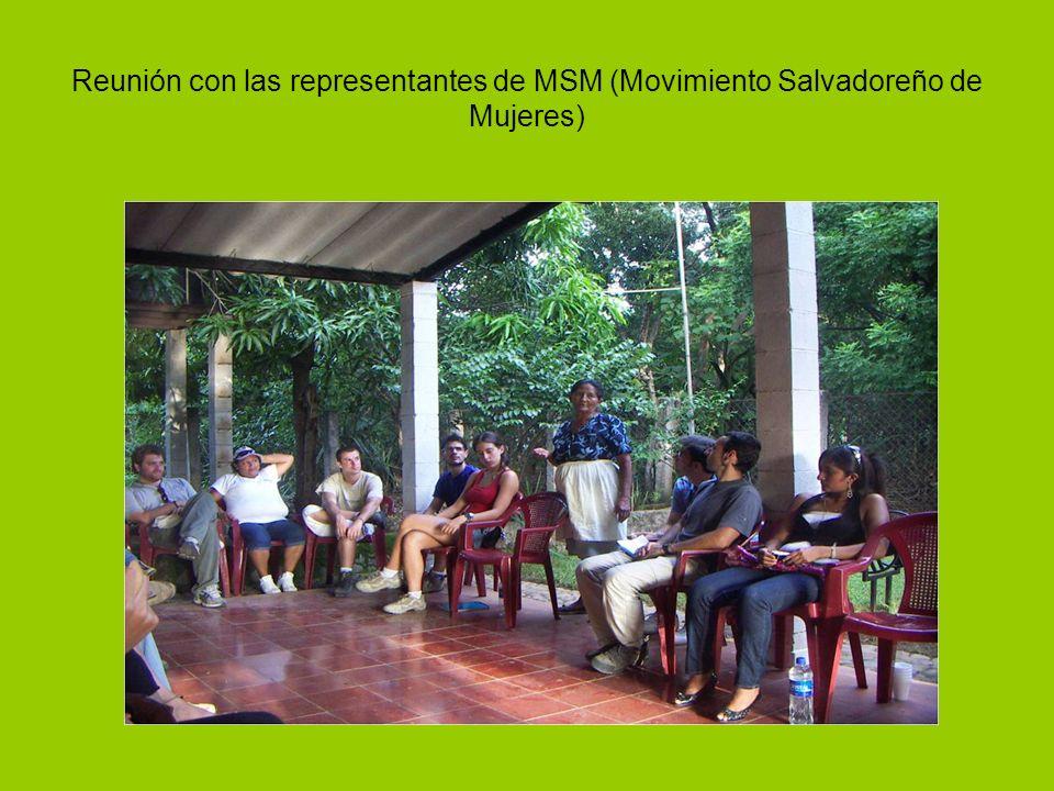 Reunión con las representantes de MSM (Movimiento Salvadoreño de Mujeres)