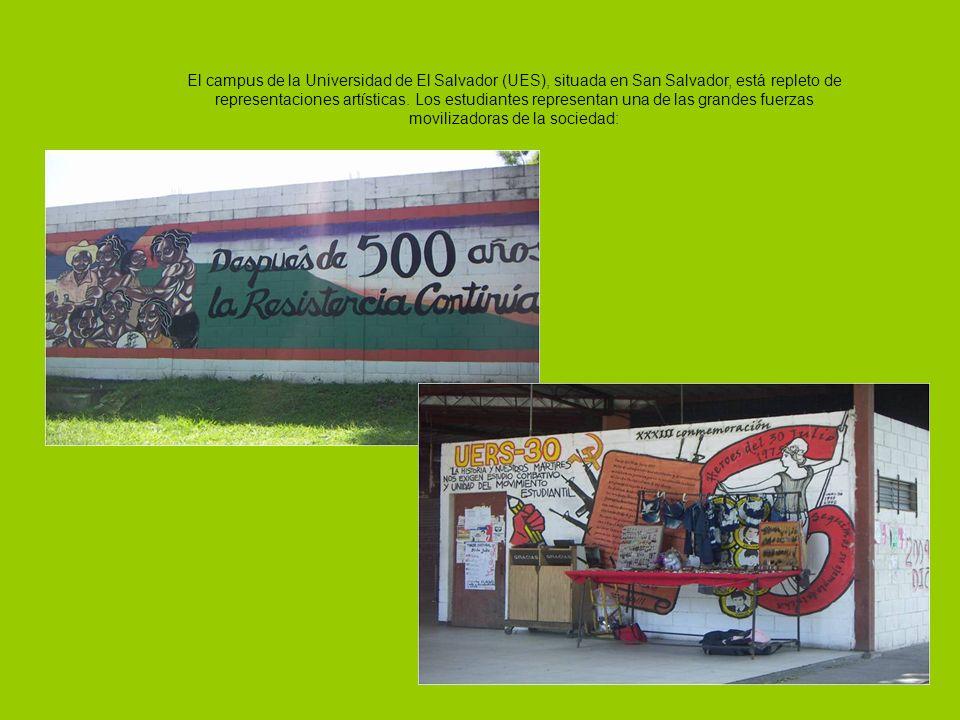 El campus de la Universidad de El Salvador (UES), situada en San Salvador, está repleto de representaciones artísticas.