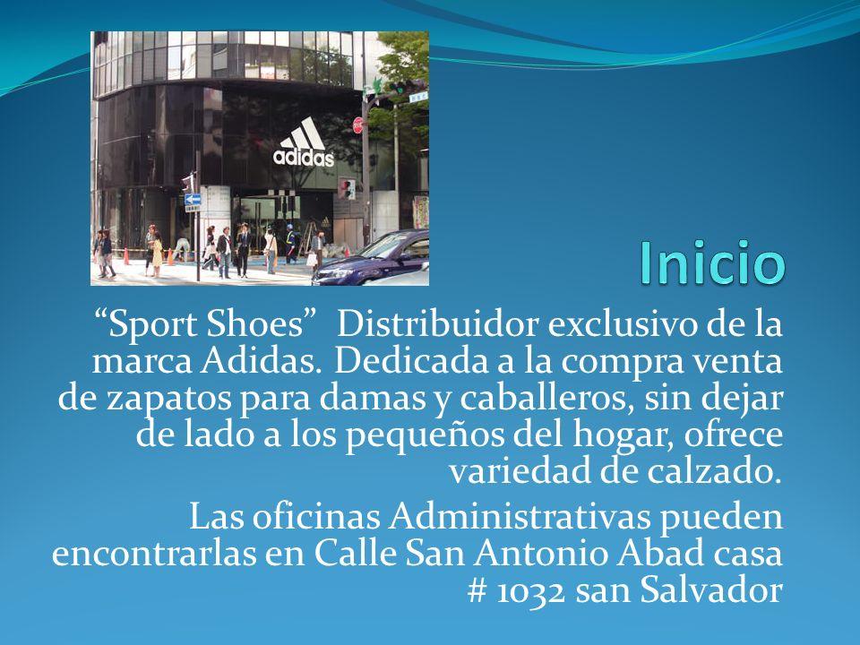 Sport Shoes Distribuidor exclusivo de la marca Adidas. Dedicada a la compra venta de zapatos para damas y caballeros, sin dejar de lado a los pequeños