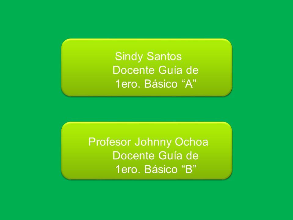 Sindy Santos Docente Guía de 1ero. Básico A Profesor Johnny Ochoa Docente Guía de 1ero. Básico B