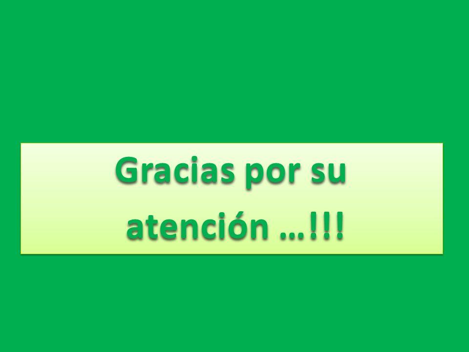 Gracias por su atención …!!! atención …!!! Gracias por su atención …!!! atención …!!!