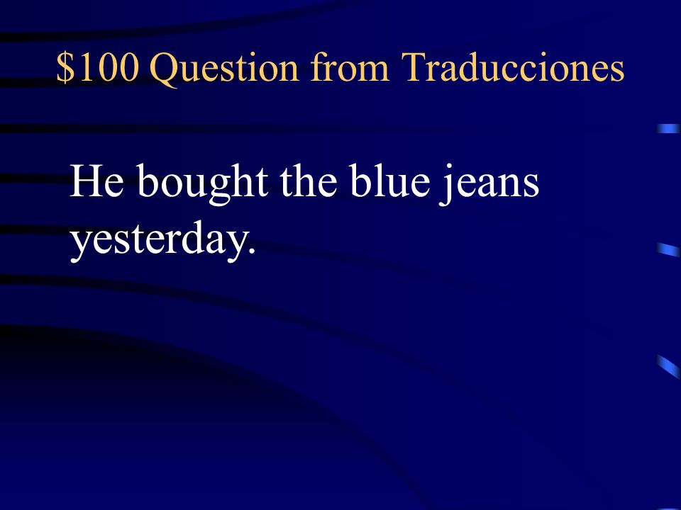 $500 Answer from Vocabulario Los pantalones cortos morados y las camisas anaranjadas