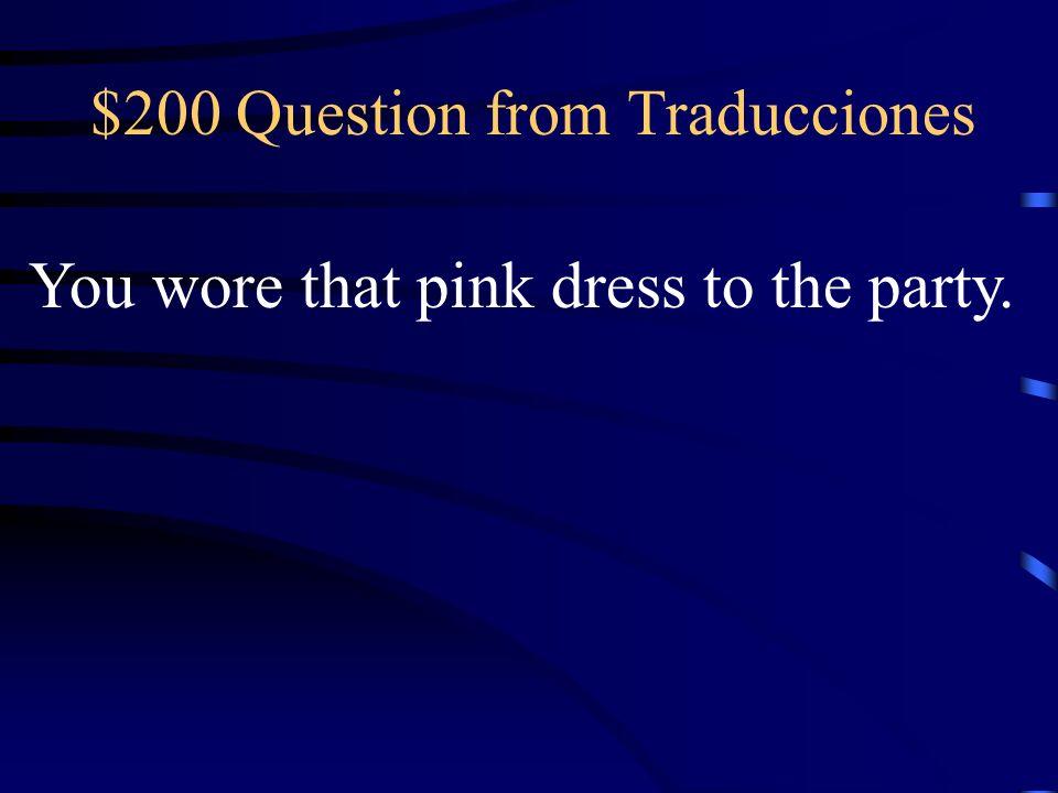 $100 Answer from Traducciones Él compró los jeans azules ayer.