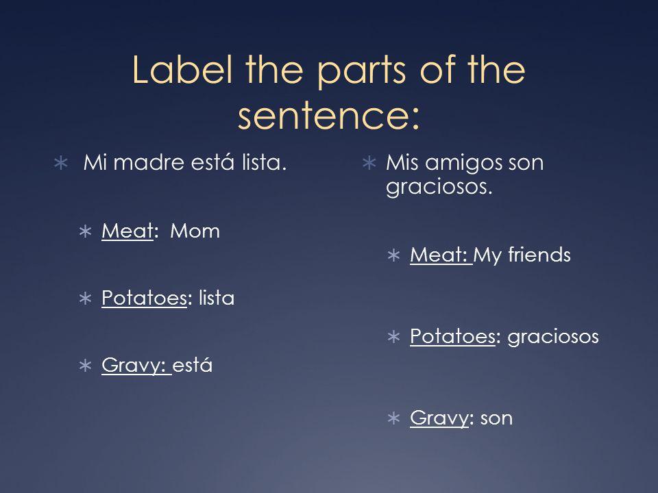 ¿Ser o Estar.Context: What is the sentence describing.