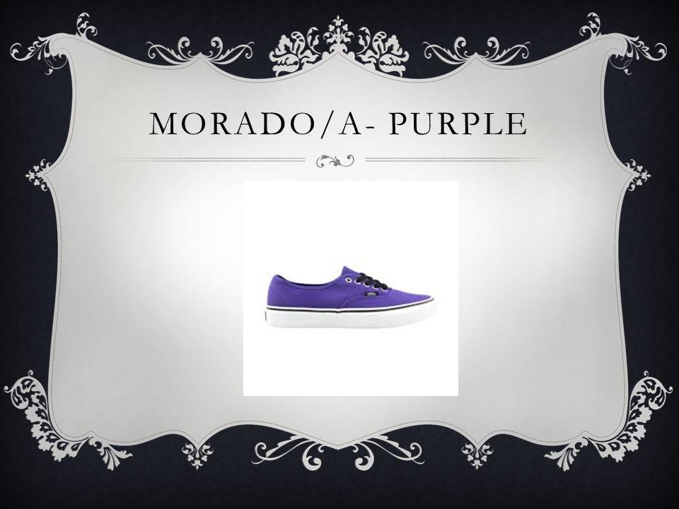 MORADO/A- PURPLE