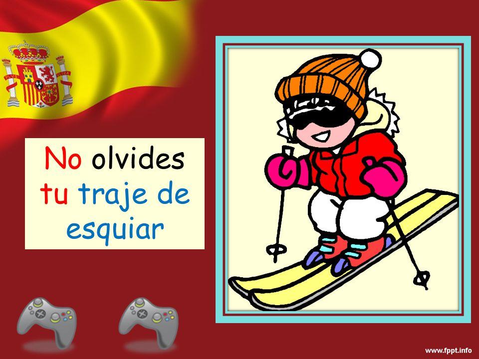 No olvides tu traje de esquiar