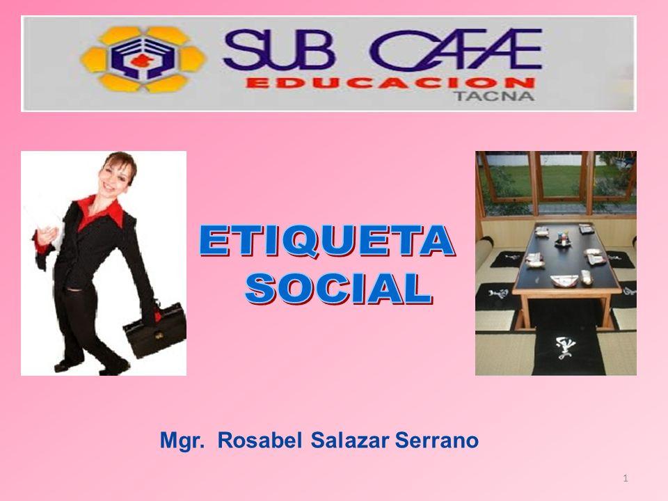 1 Mgr. Rosabel Salazar Serrano