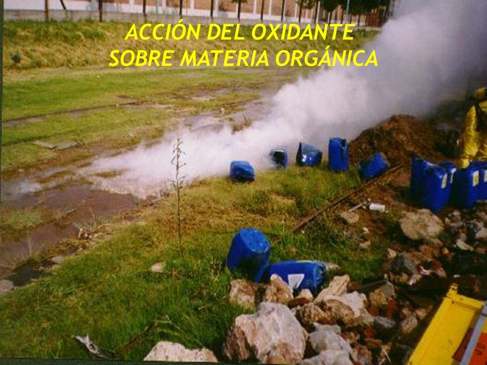 ACCIÓN DEL OXIDANTE SOBRE MATERIA ORGÁNICA