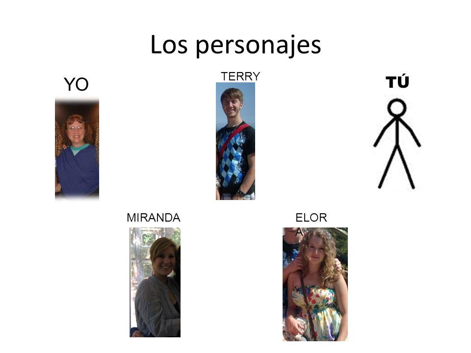 Los personajes YO TÚTÚ TERRY MIRANDAELOR A