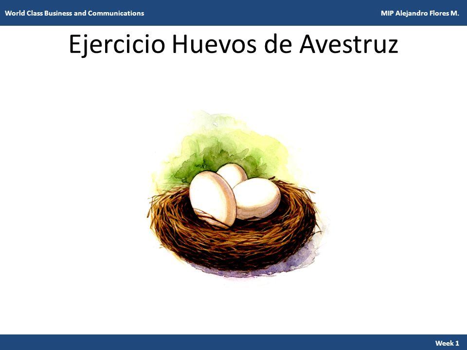 Ejercicio Huevos de Avestruz Week 1 World Class Business and Communications MIP Alejandro Flores M.