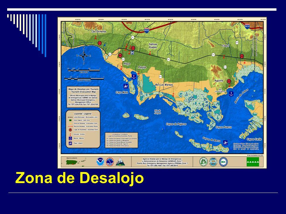 Comunidades en la Zona de Desalojo 1) Bo.Las Ochentas 2) Bo.