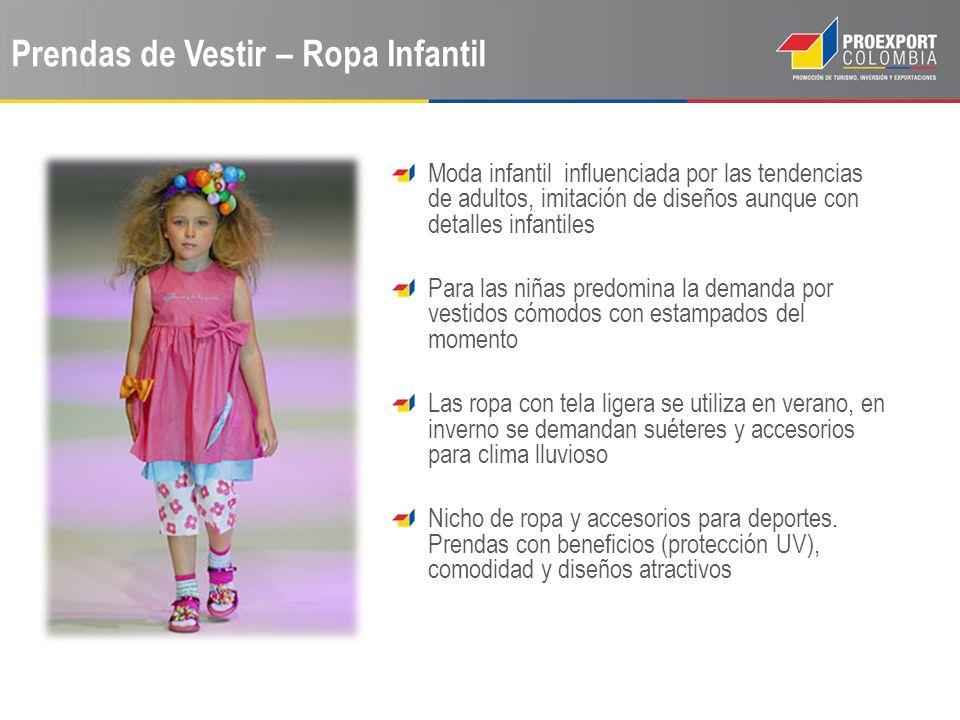 Prendas de Vestir – Ropa Infantil Moda infantil influenciada por las tendencias de adultos, imitación de diseños aunque con detalles infantiles Para l