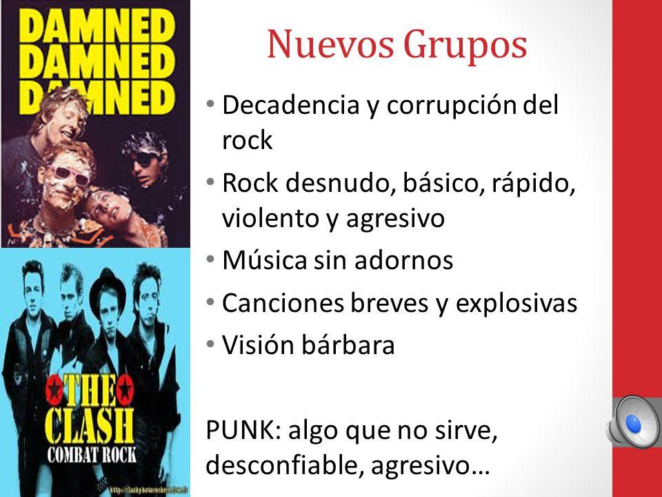 Surgimiento del Punk En los 60`s se dieron corrientes musicales antitéticas como el rock progresivo y el metal pesado. Malcom McLaren, abre en Londres