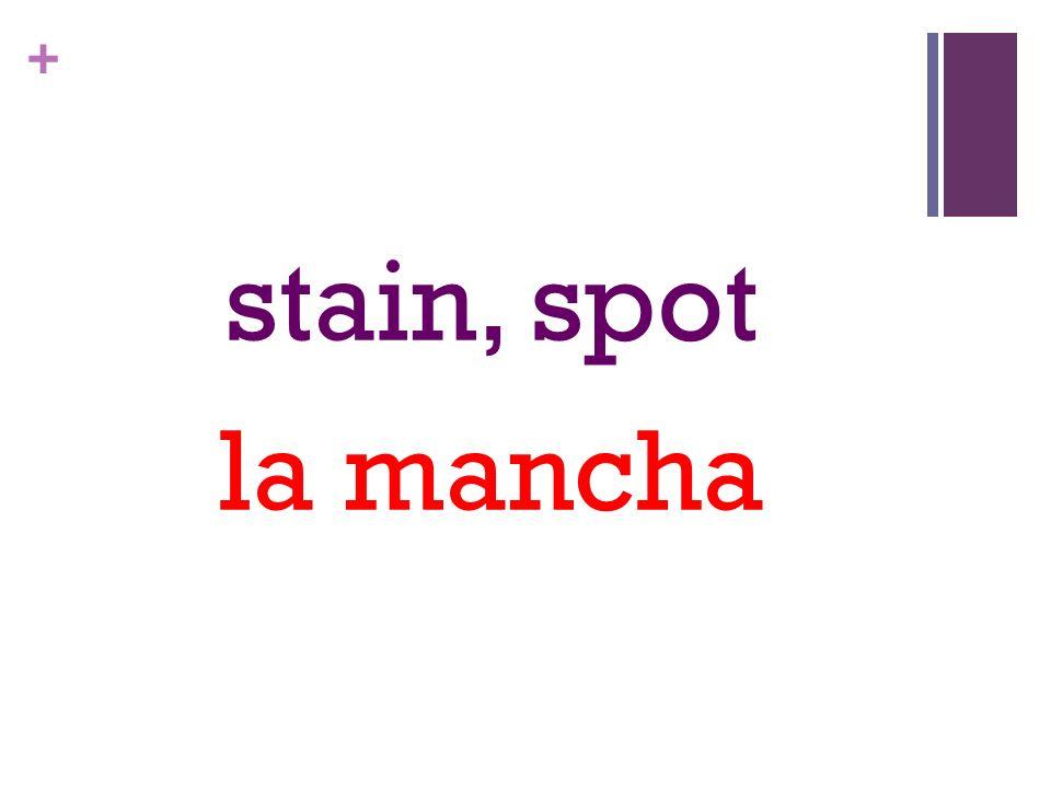 + stain, spot la mancha