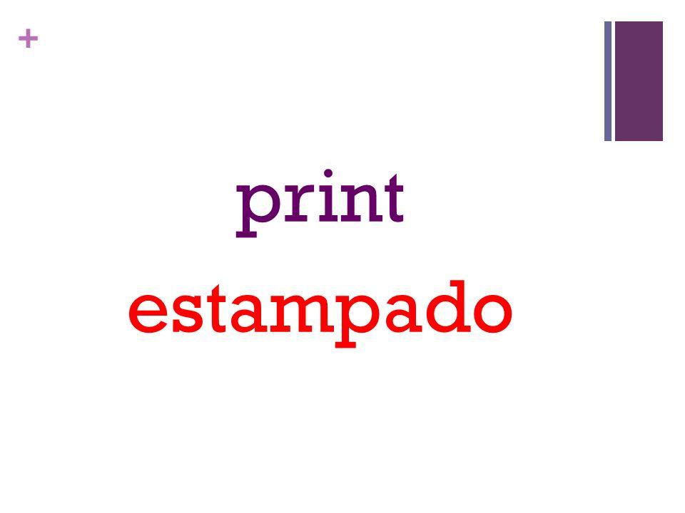 + print estampado