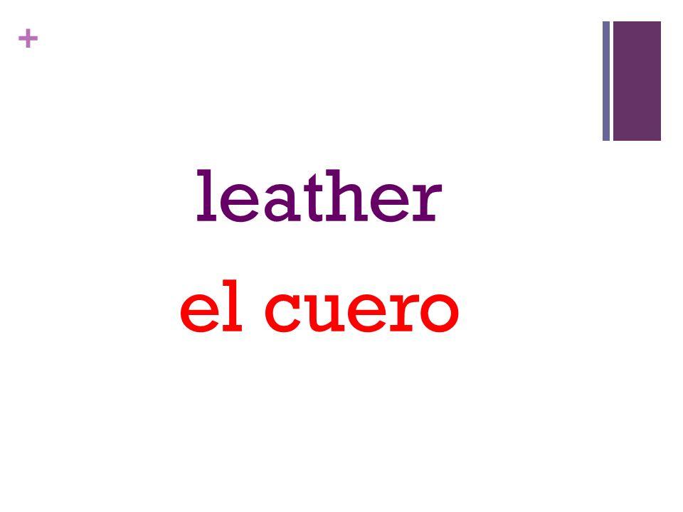 + leather el cuero