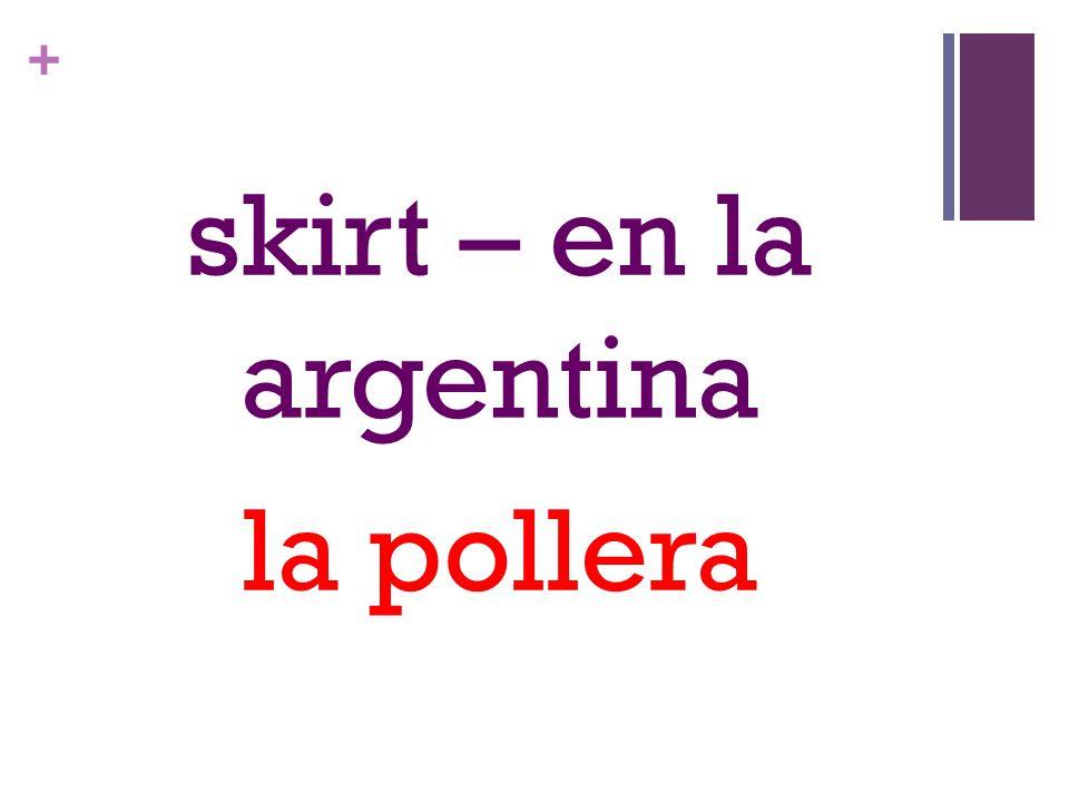 + skirt – en la argentina la pollera
