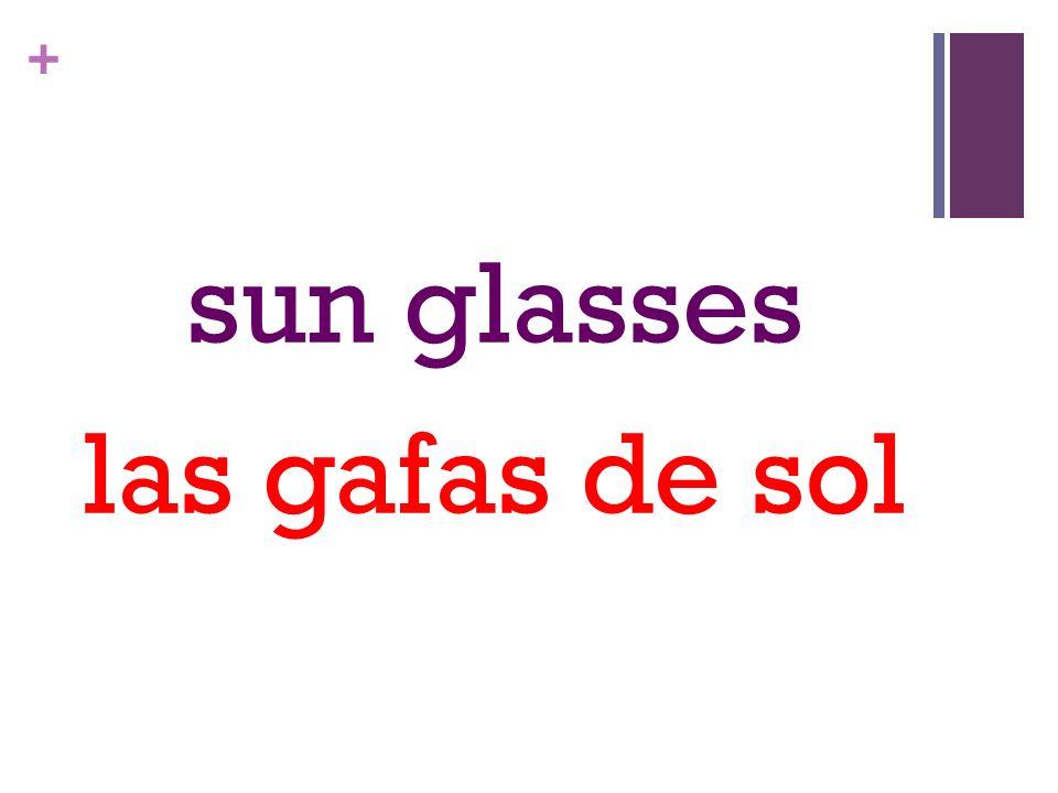 + sun glasses las gafas de sol