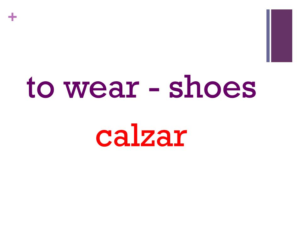 + to wear - shoes calzar
