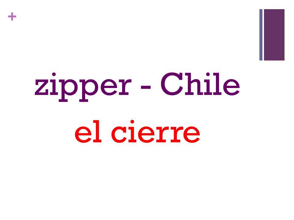 + zipper - Chile el cierre