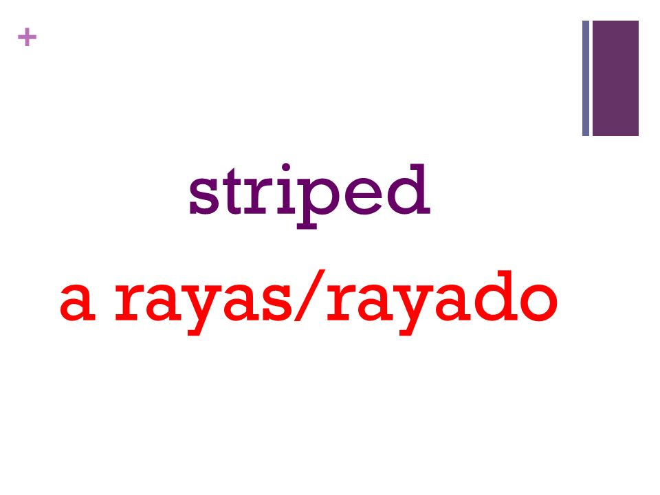 + striped a rayas/rayado