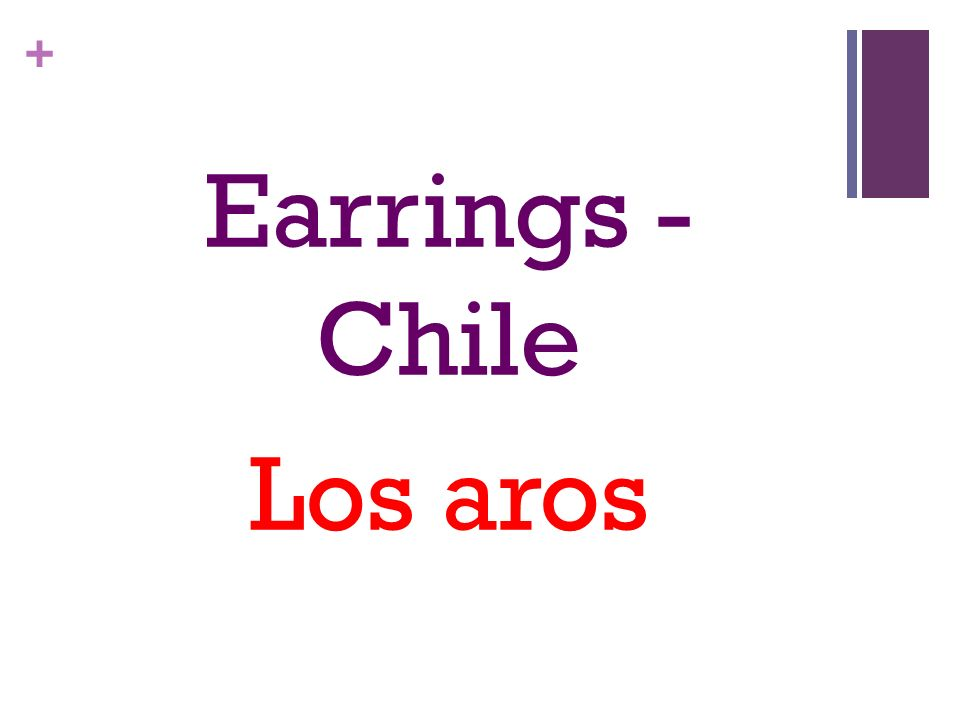 + Earrings - Chile Los aros