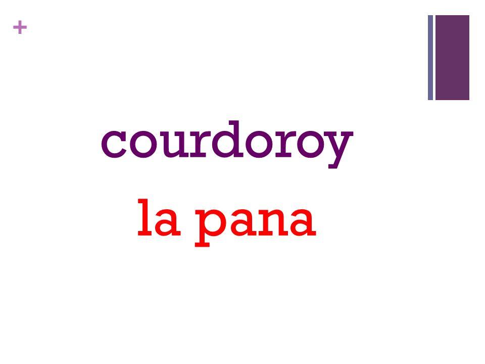 + courdoroy la pana
