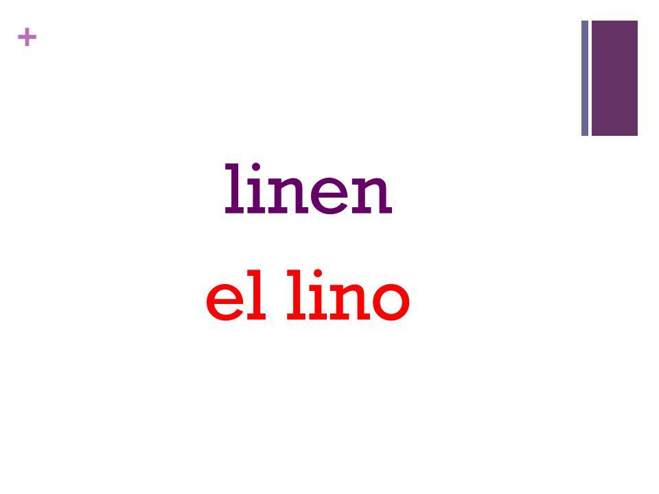 + linen el lino