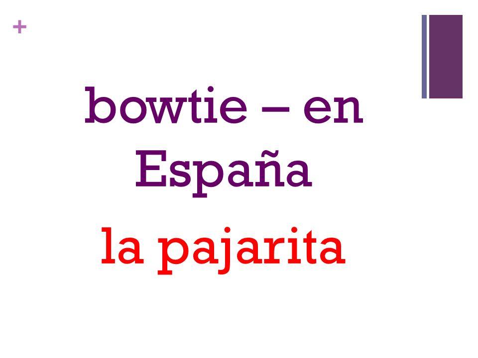 + bowtie – en España la pajarita