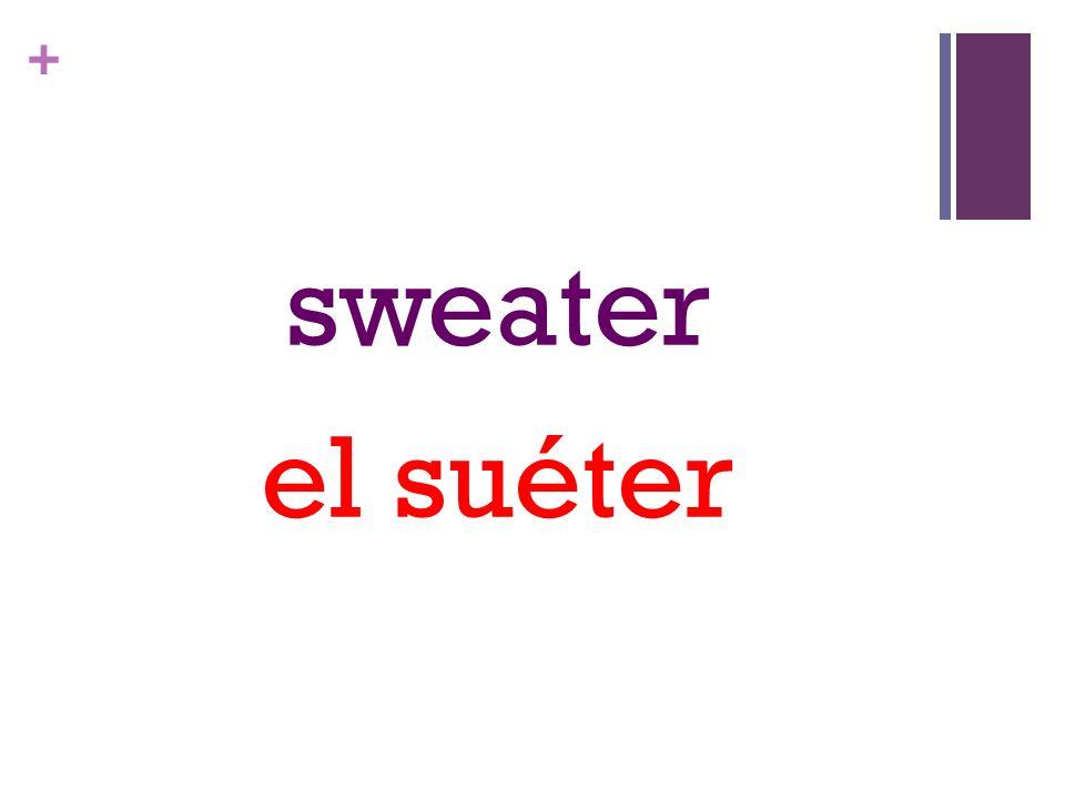 + sweater el suéter