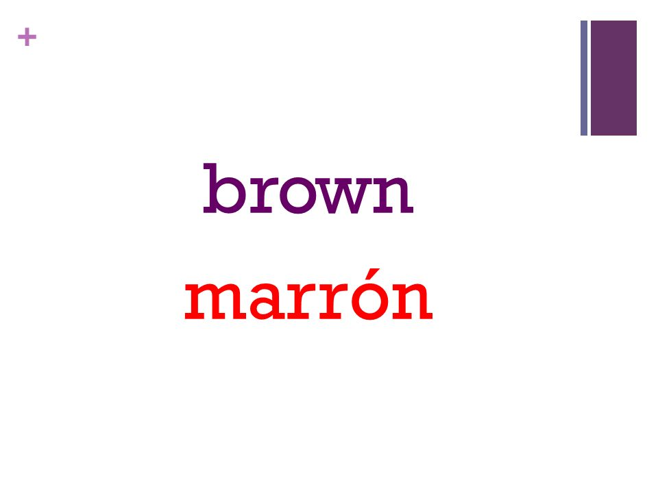 + brown marrón